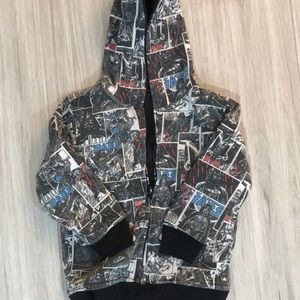 Size 5 Reversible Star Wars Hooded Sweatshirt